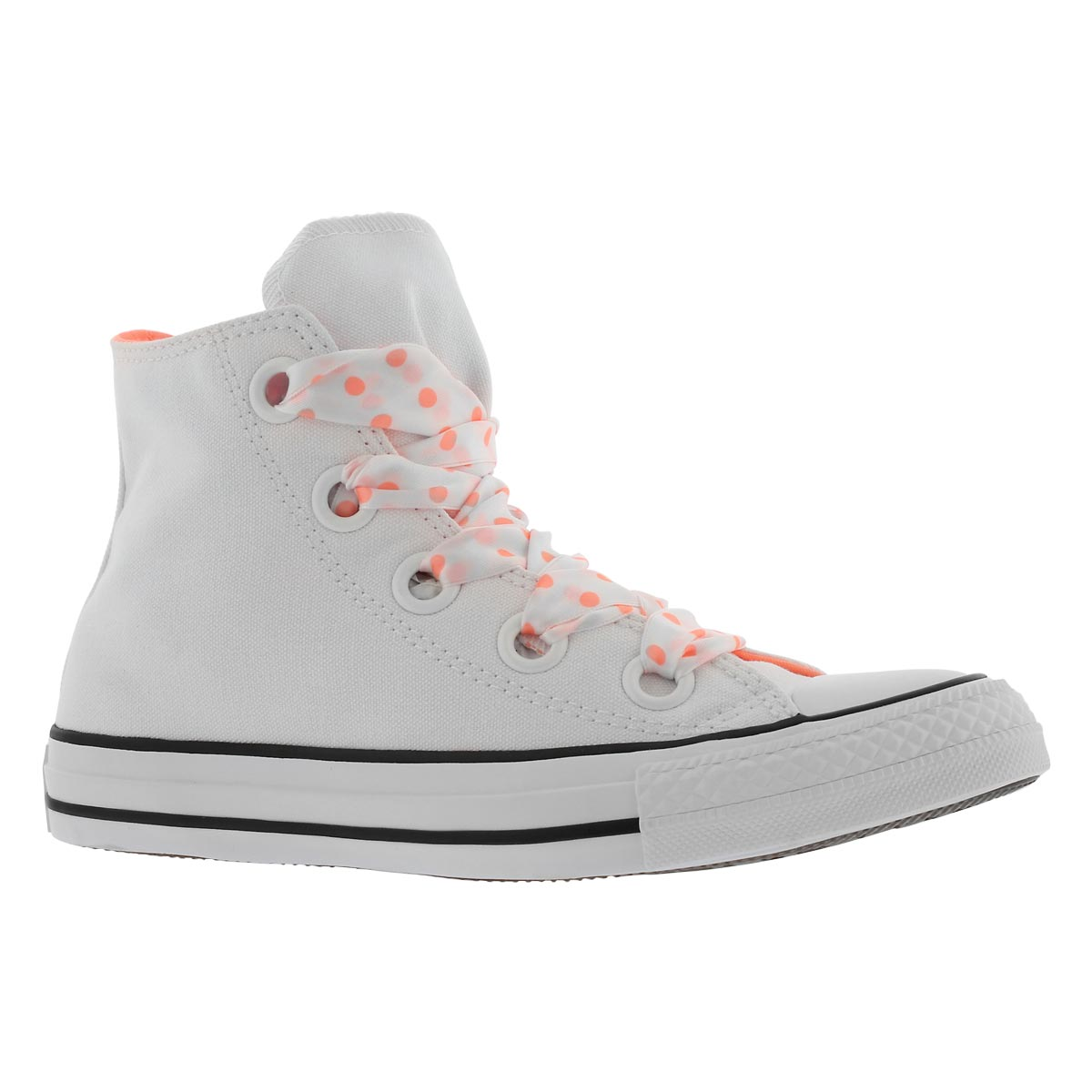 Women's CT ALL STAR BIG EYELETS wht/blk hi tops