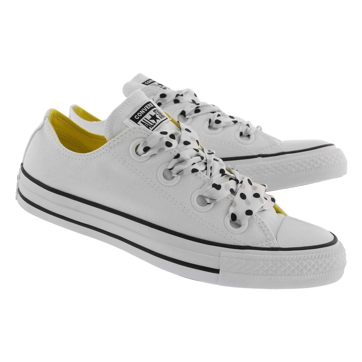 Lds CT A/S Big Eyelets wht/blk sneaker