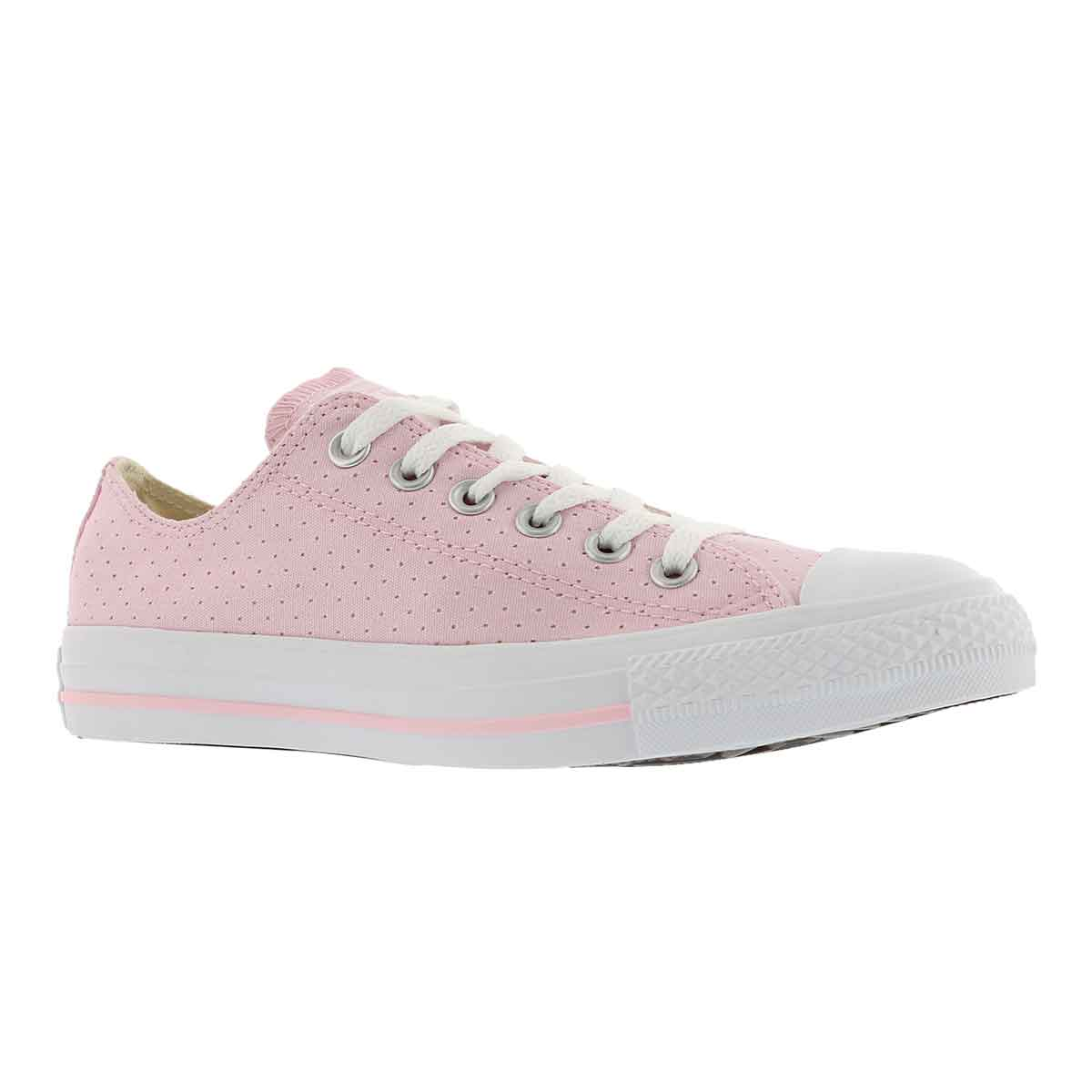 Women's CT ALL STAR PERFORATED cherry/wht sneakers