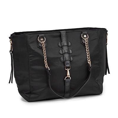 Lds Front Stitch black tote bag