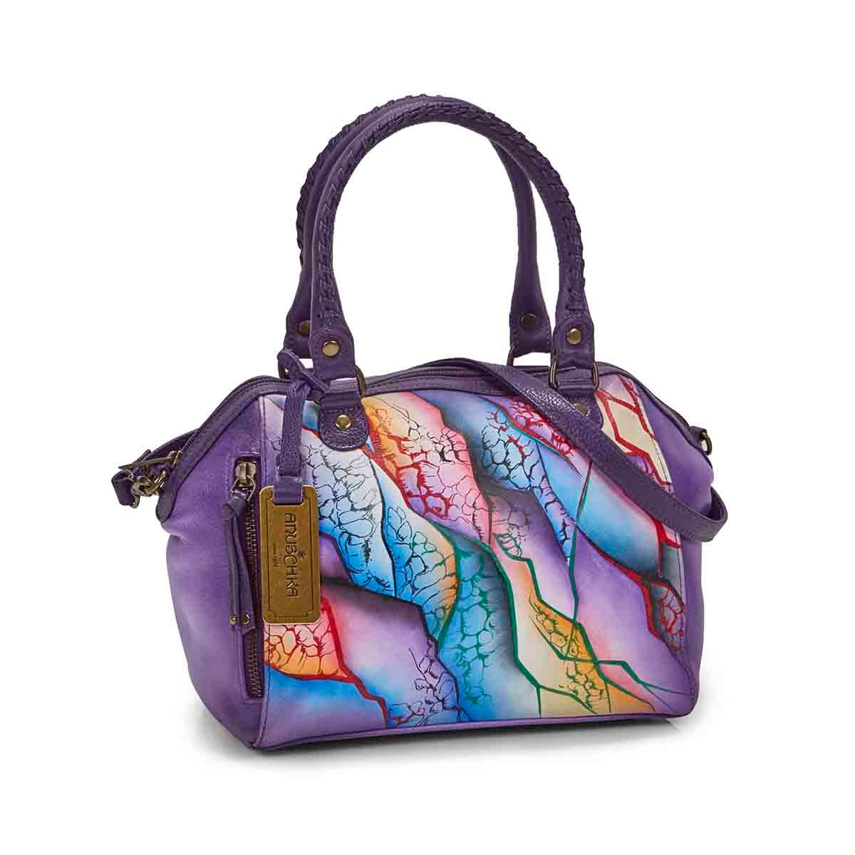 Painted lthr Cosmic Quest conv. tote