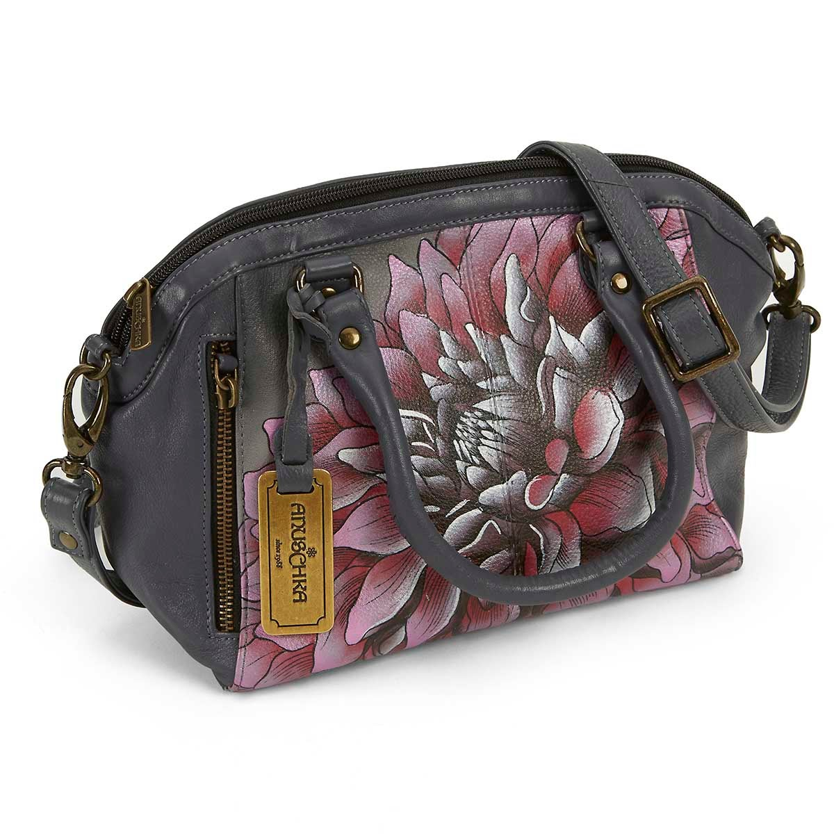 Women's DREAMY DAHLIAS pink convertible tote
