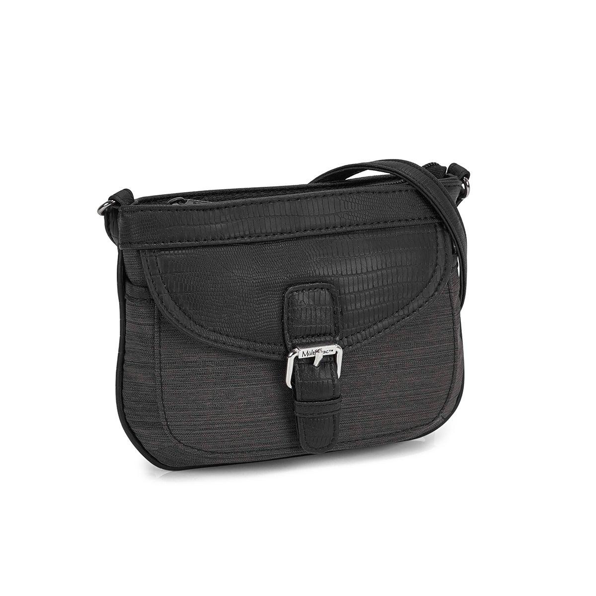 Women's black crossbody bag