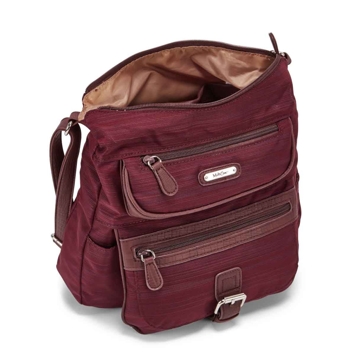 Lds large burgundy crossbody