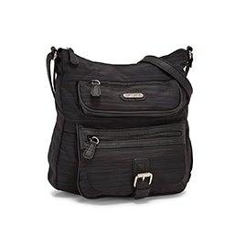MultiSac Women's MULTIFLARE black large crossbody bag