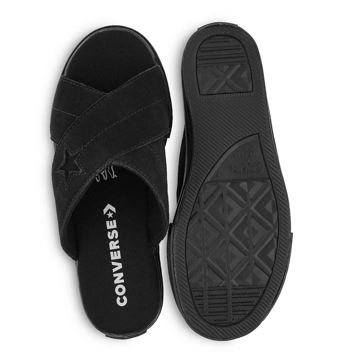 Lds One Star blk/blk casual slide sandal