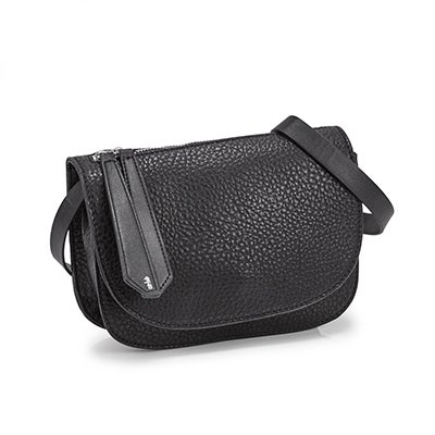 Co-Lab Women's 5642 MINI SADDLE black cross body bag