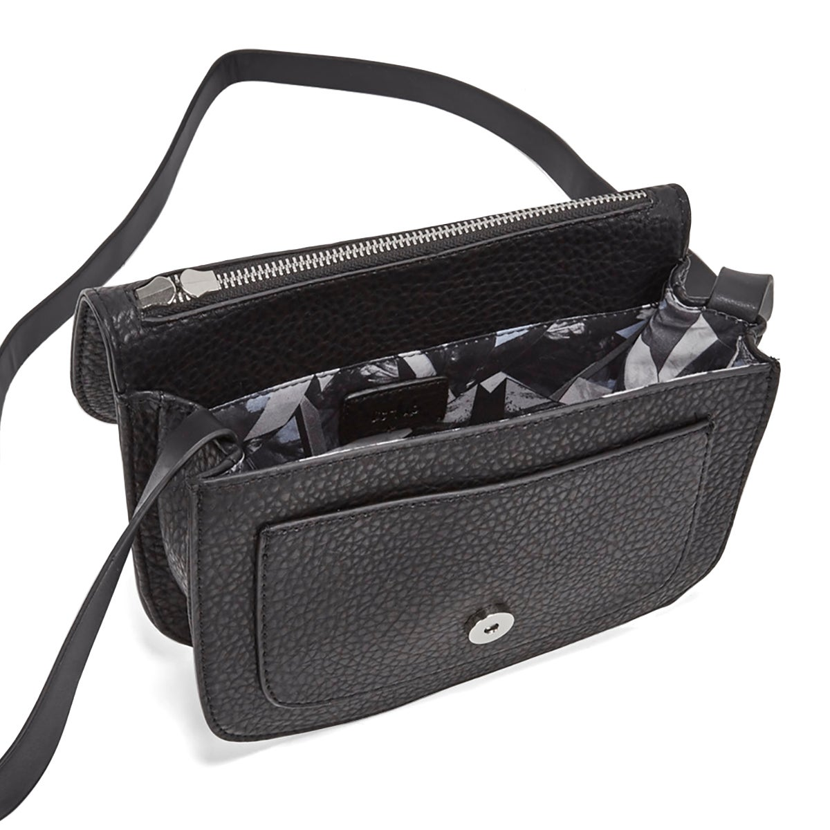 Lds Mini Saddle black cross body