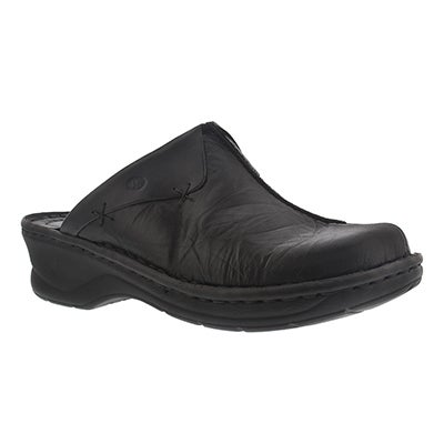 Josef Seibel Women's CATALONIA black low wedge clogs