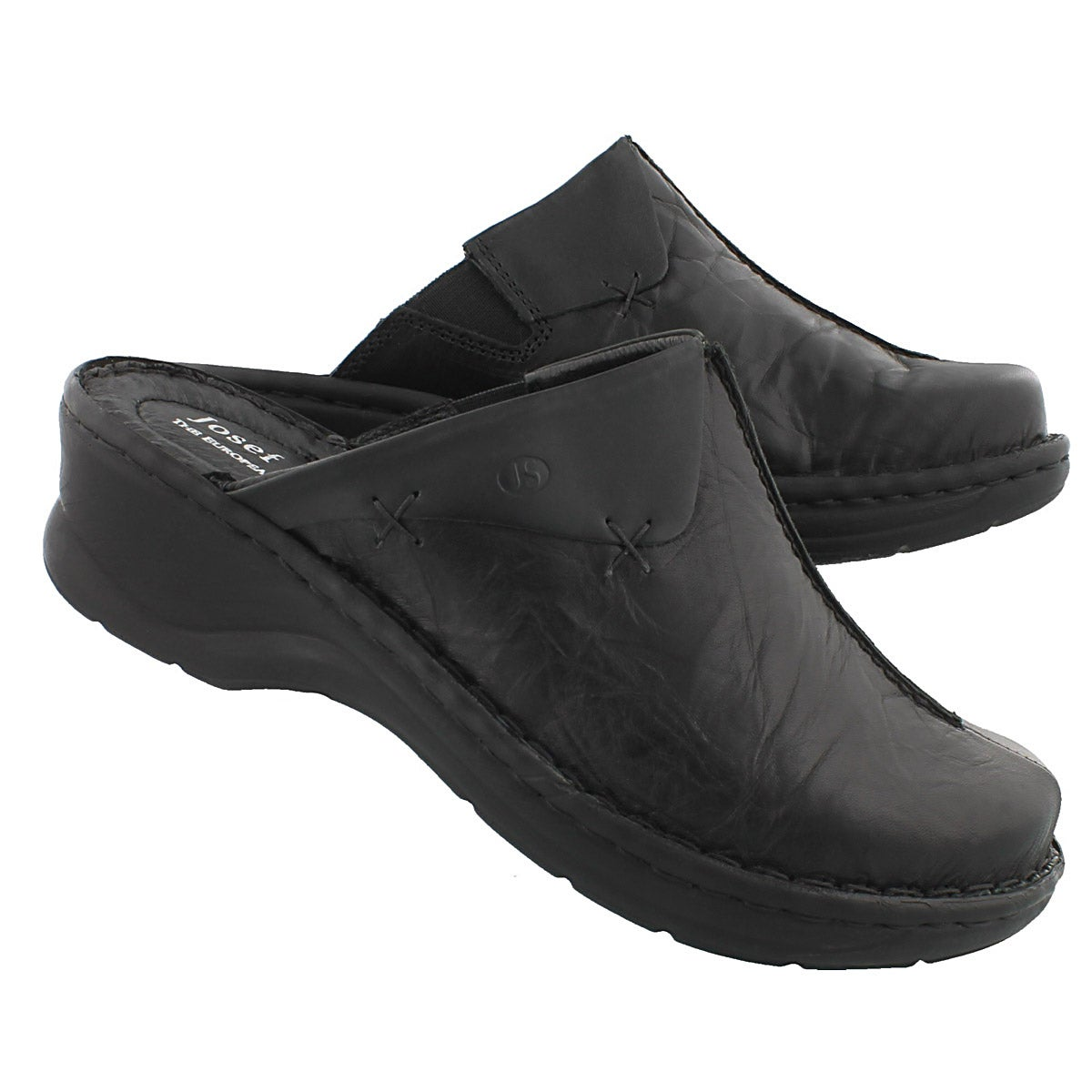 Lds Catalonia 48 black low wedge clog