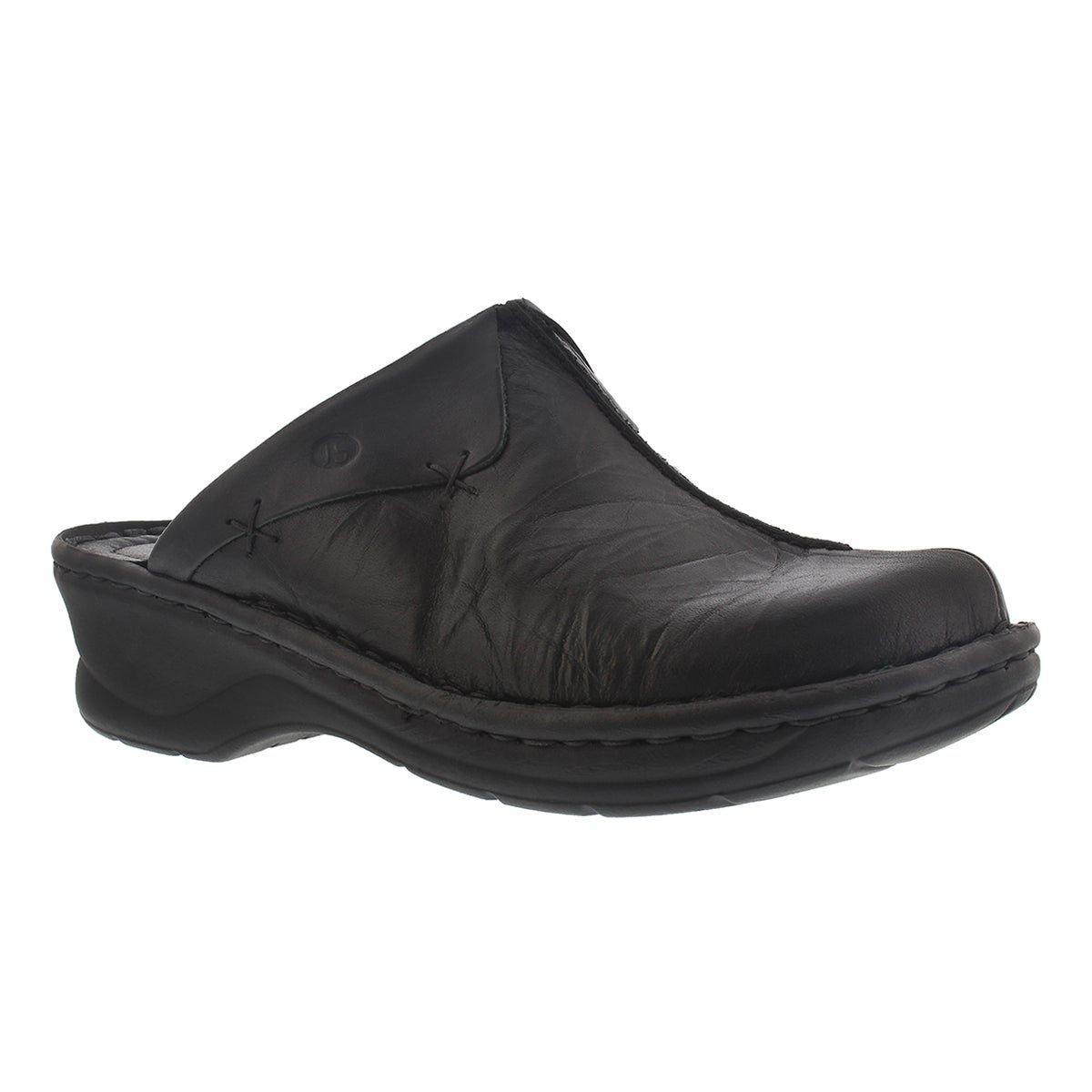 Women's CATALONIA black low wedge clogs