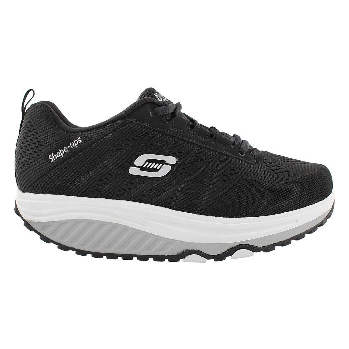 Lds Shape-Ups 2.0 blk/wht walking shoe