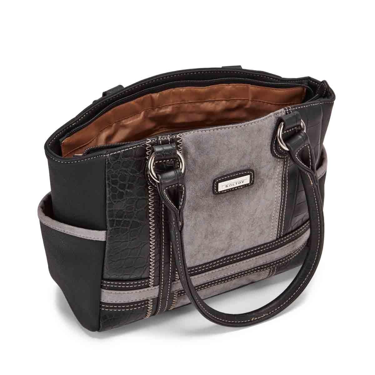 Lds Clark black/combo shoulder bag