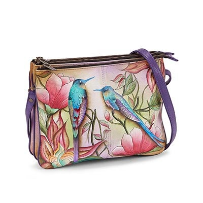 Printed leather Spring Passion crossbody