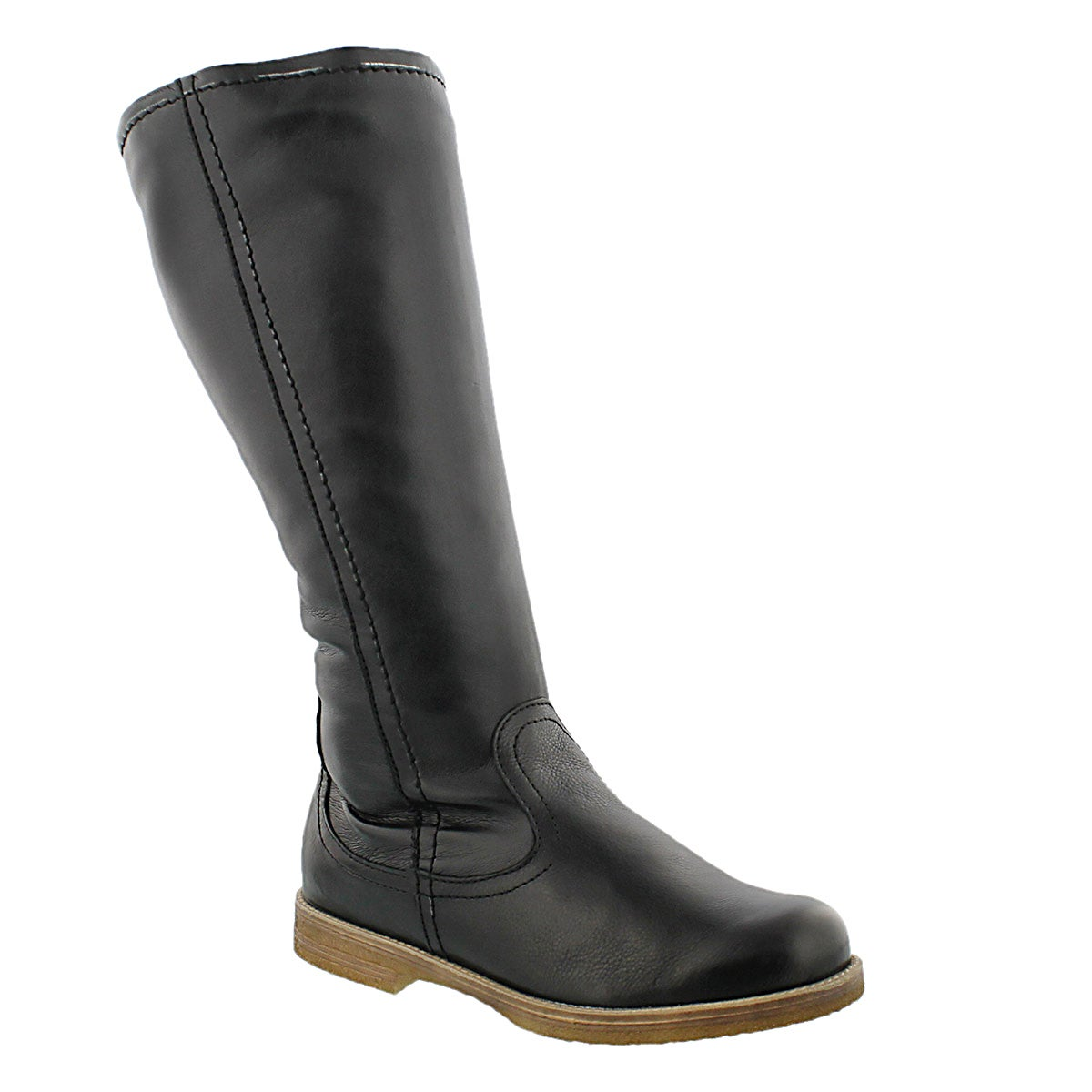 Women's TAMARA 03 black leather casual tall boots