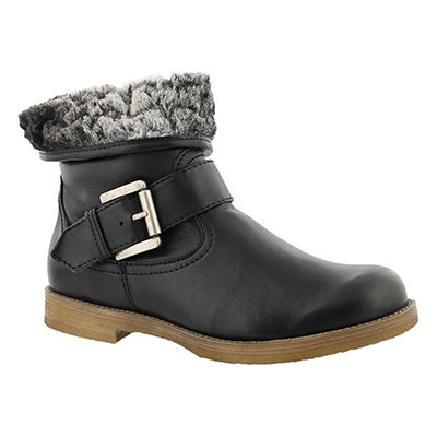Lds Tamara 04 blk lthr casual ankle boot