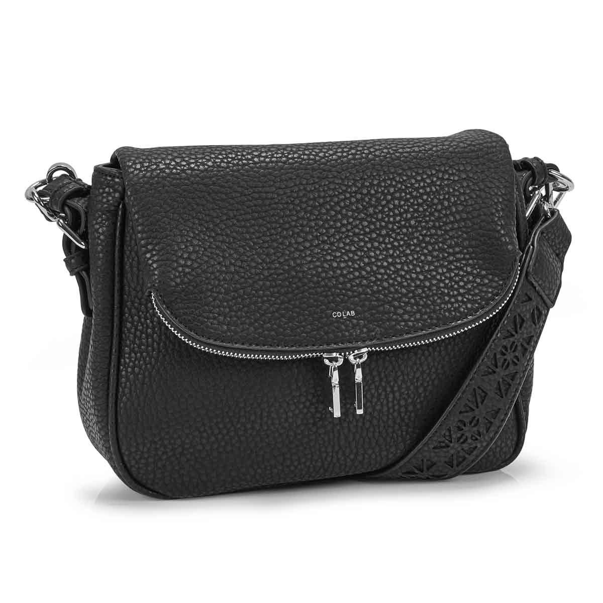 Women's SASHA black hobo crossbody bag