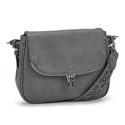 Co-Lab Women's SASHA grey hobo crossbody bag
