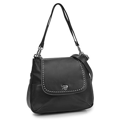 Co-Lab Women's DAISY black hobo with crossbody strap