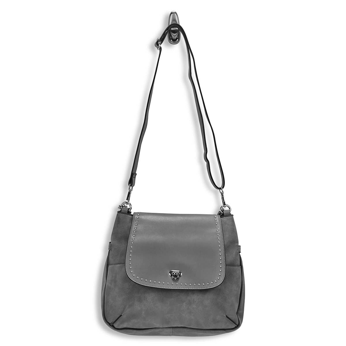 Lds Daisy gry hobo bag w/crossbody strap
