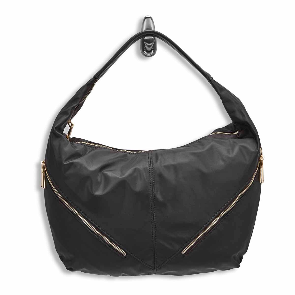 Lds Jessie black slouchy hobo bag