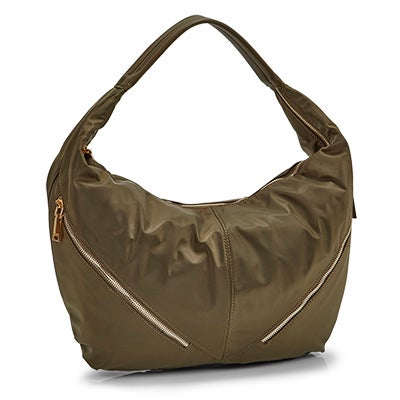 Co-Lab Women's JESSIE khaki slouchy hobo bag