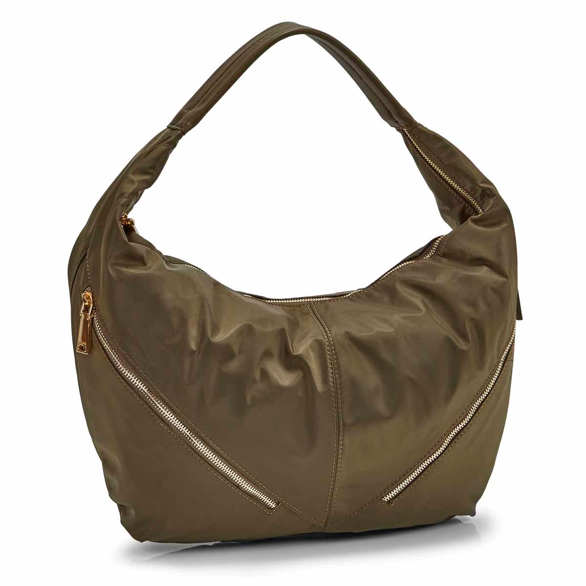 Women's JESSIE khaki slouchy hobo bag