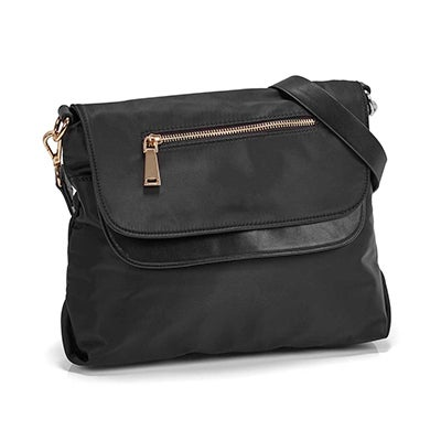 Co-Lab Women's JESSIE black double flap crossbody