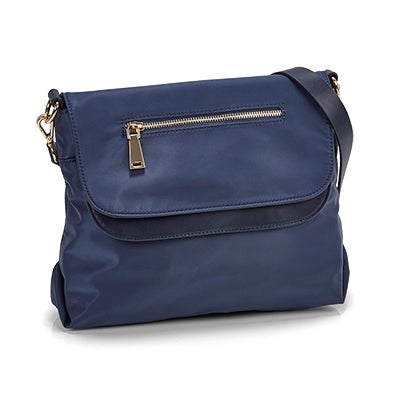 Co-Lab Women's JESSIE navy double flap crossbody