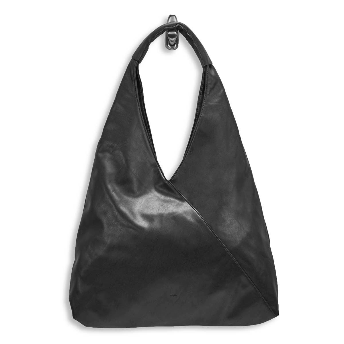 Lds Alexis black triangle hobo bag