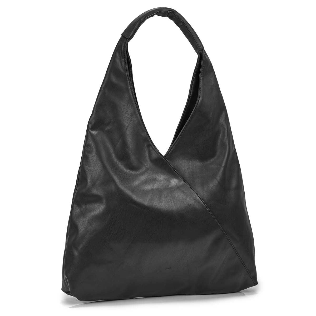 Women's ALEXIS black triangle hobo bag