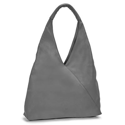 Lds Alexis grey triangle hobo bag
