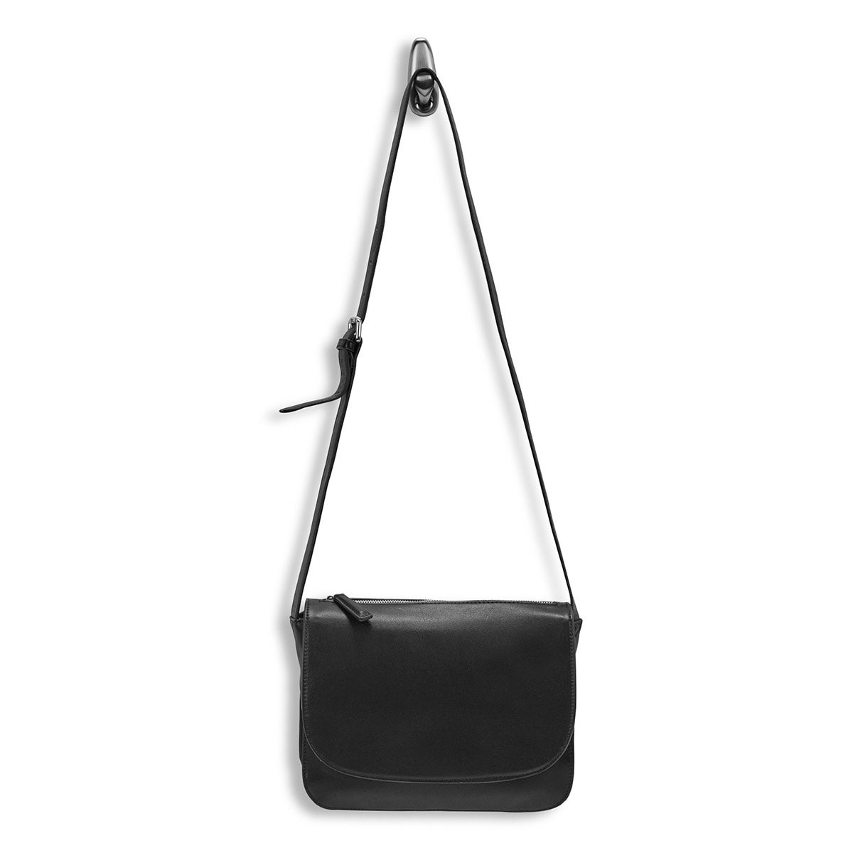 Lds Mattie black front flap crossbody