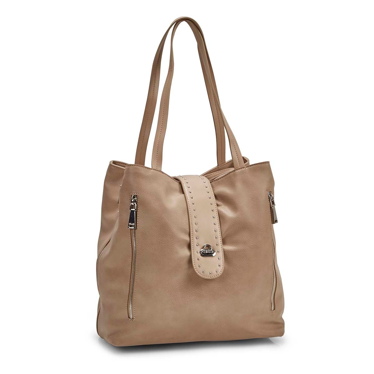 Women's DAISY baked blush tote bag