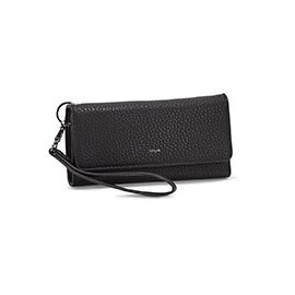 Co-Lab Women's BETH black tri-fold wristlet