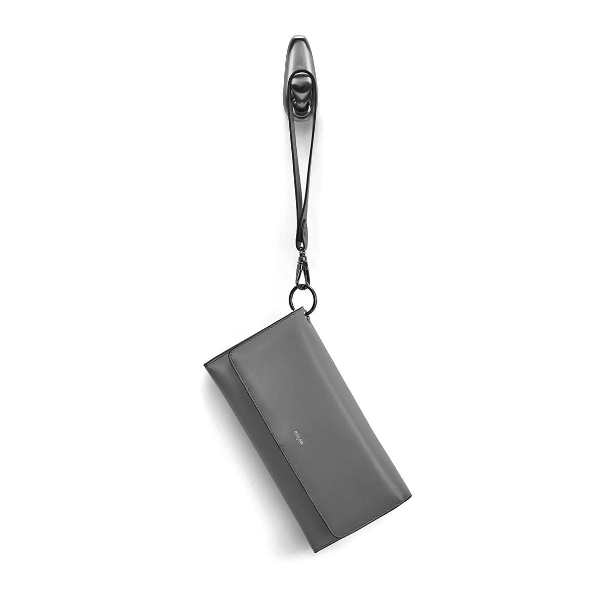 Lds Beth grey detachable strap wristlet