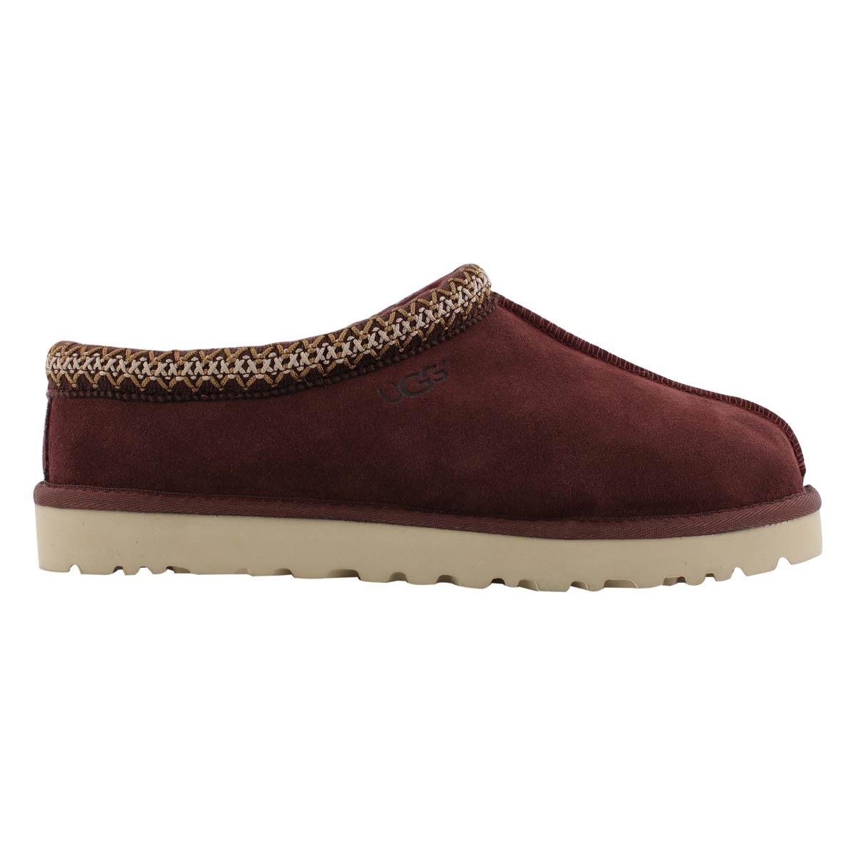 Mns Tasman burgundy sheepskin slipper