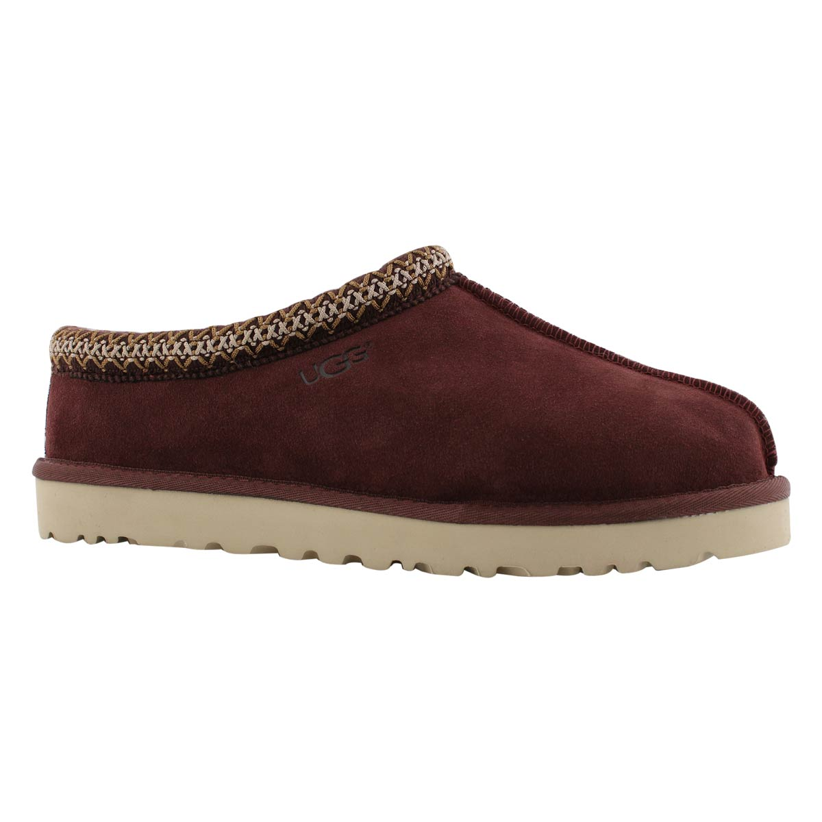 d4ae24419da Men's TASMAN burgundy sheepskin slippers
