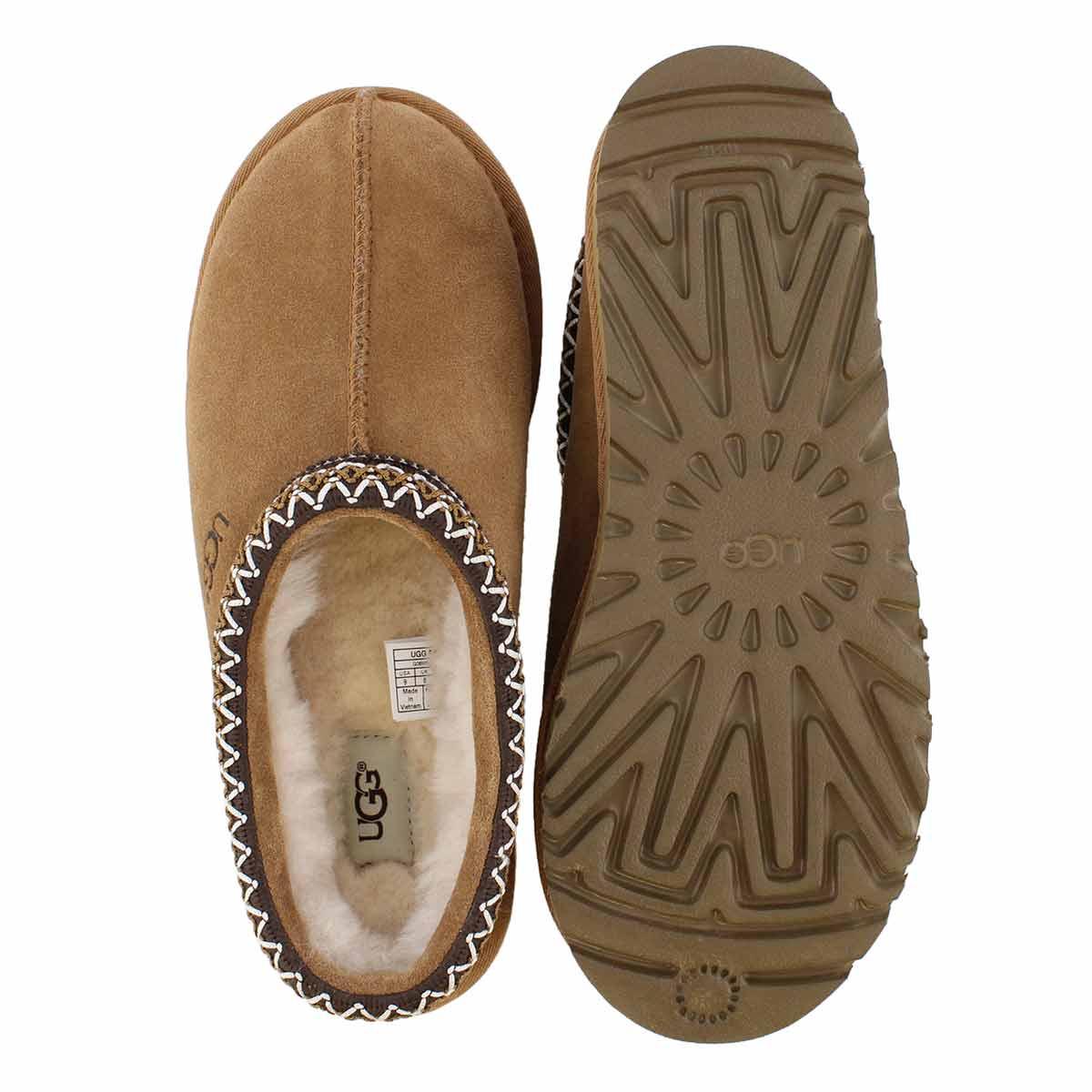 Mns Tasman chestnut sheepskin slipper