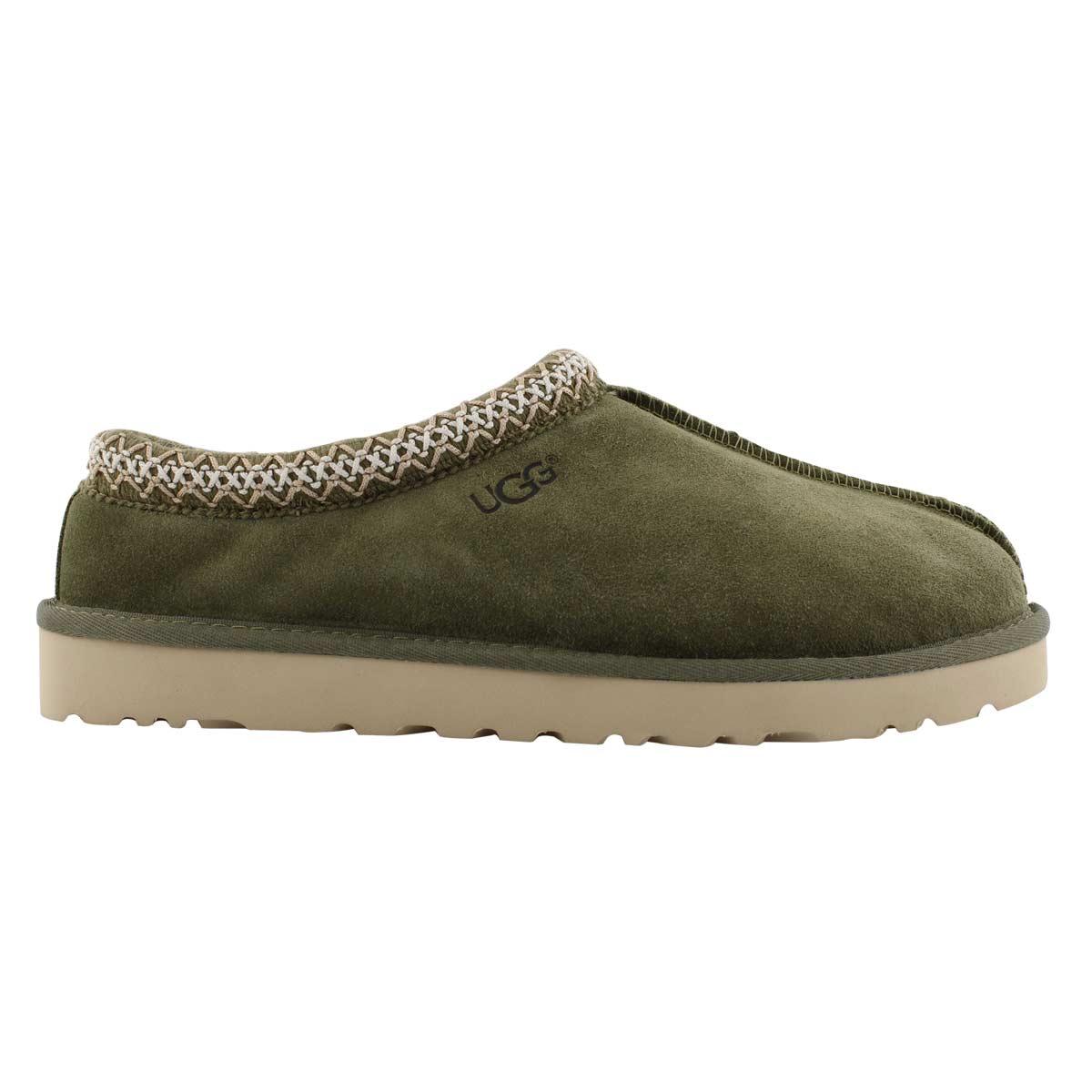 Mns Tasman moss green sheepskin slipper