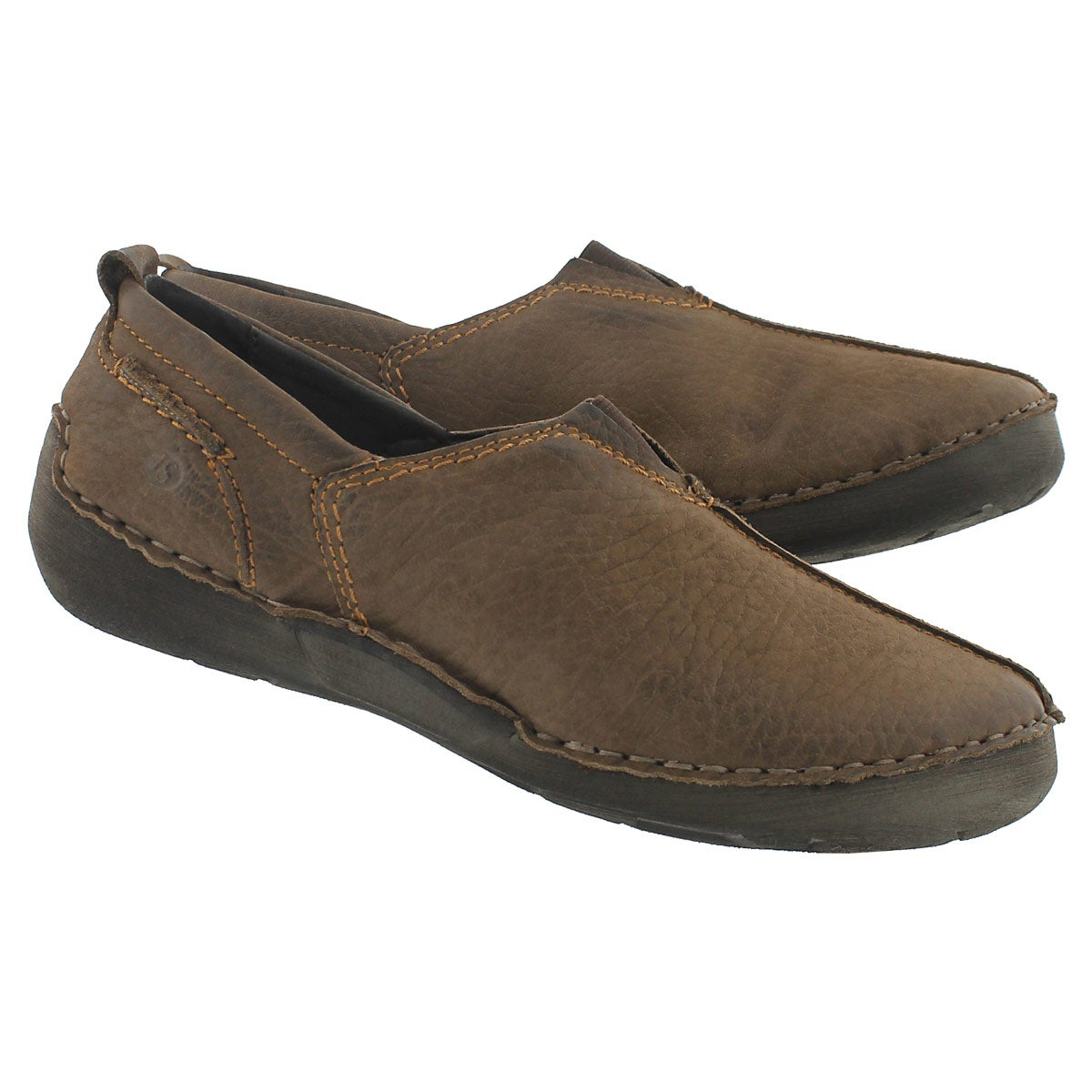 Lds Fergey 12 taupe slip on casual shoe