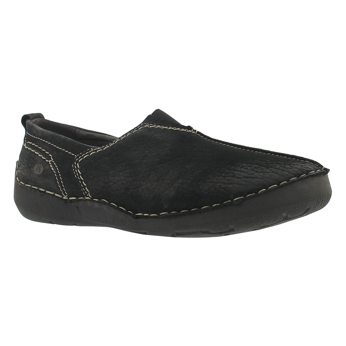 Lds Fergey 12 black slip on casual shoe