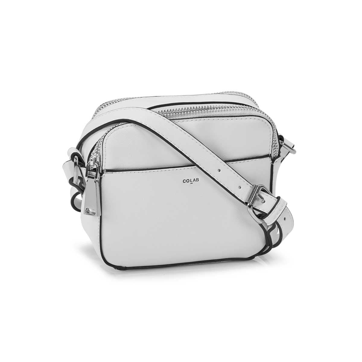 Women's MALIBU CAMERA white crossbody bag