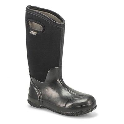 Bogs Women's CLASSIC HIGH HANDLES black waterproof boot