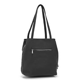 Co-Lab Women's SOHO triple compartment black satchel