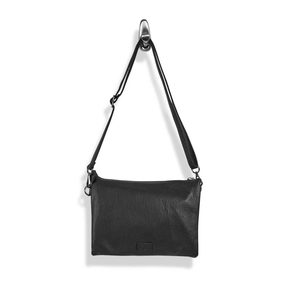 Lds Loft Flat blk wristlet/crossbody bag