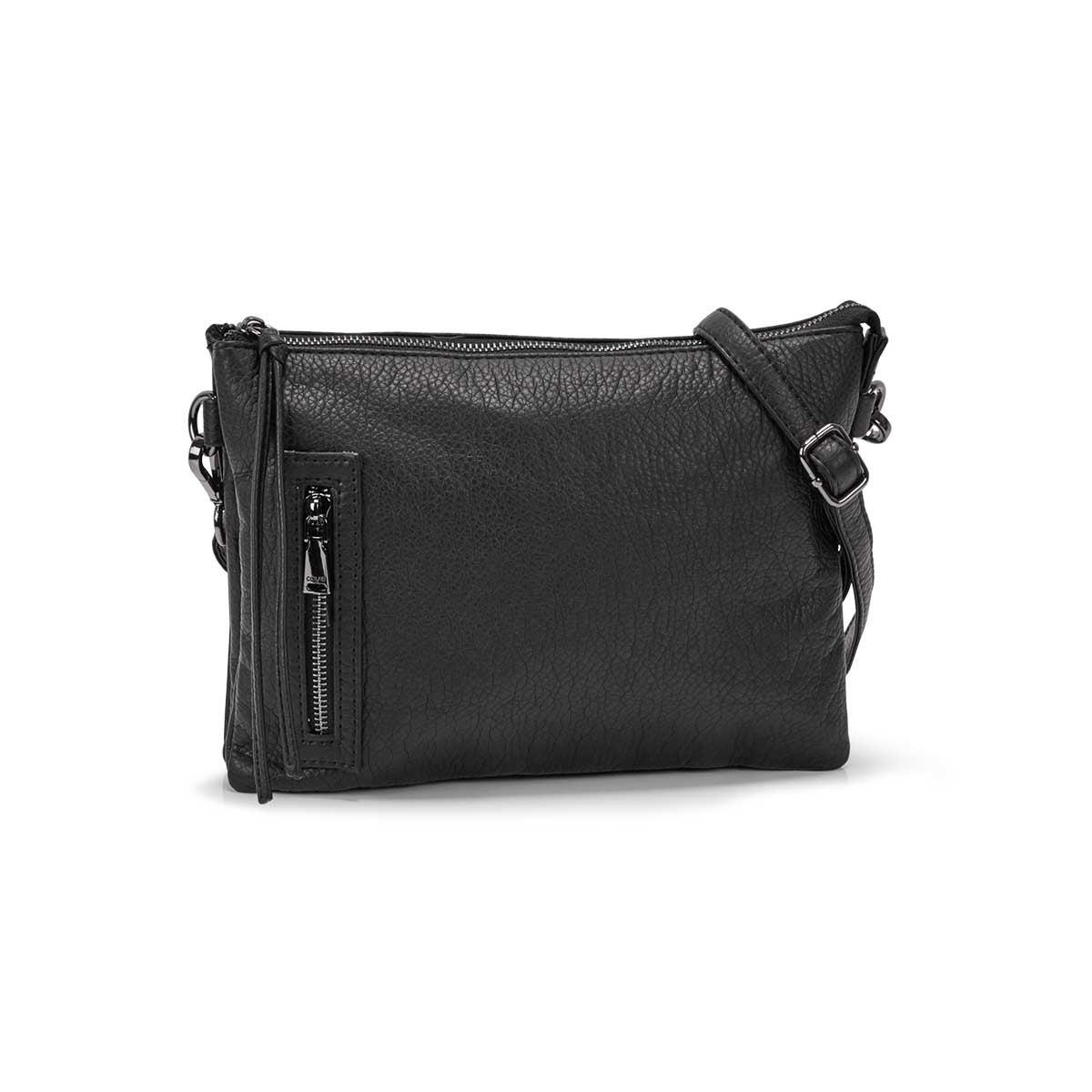 Women's LOFT FLAT black crossbody bag