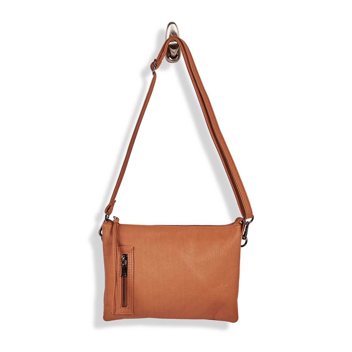 Lds Loft Flat pecan wristlet/crssbdy bag