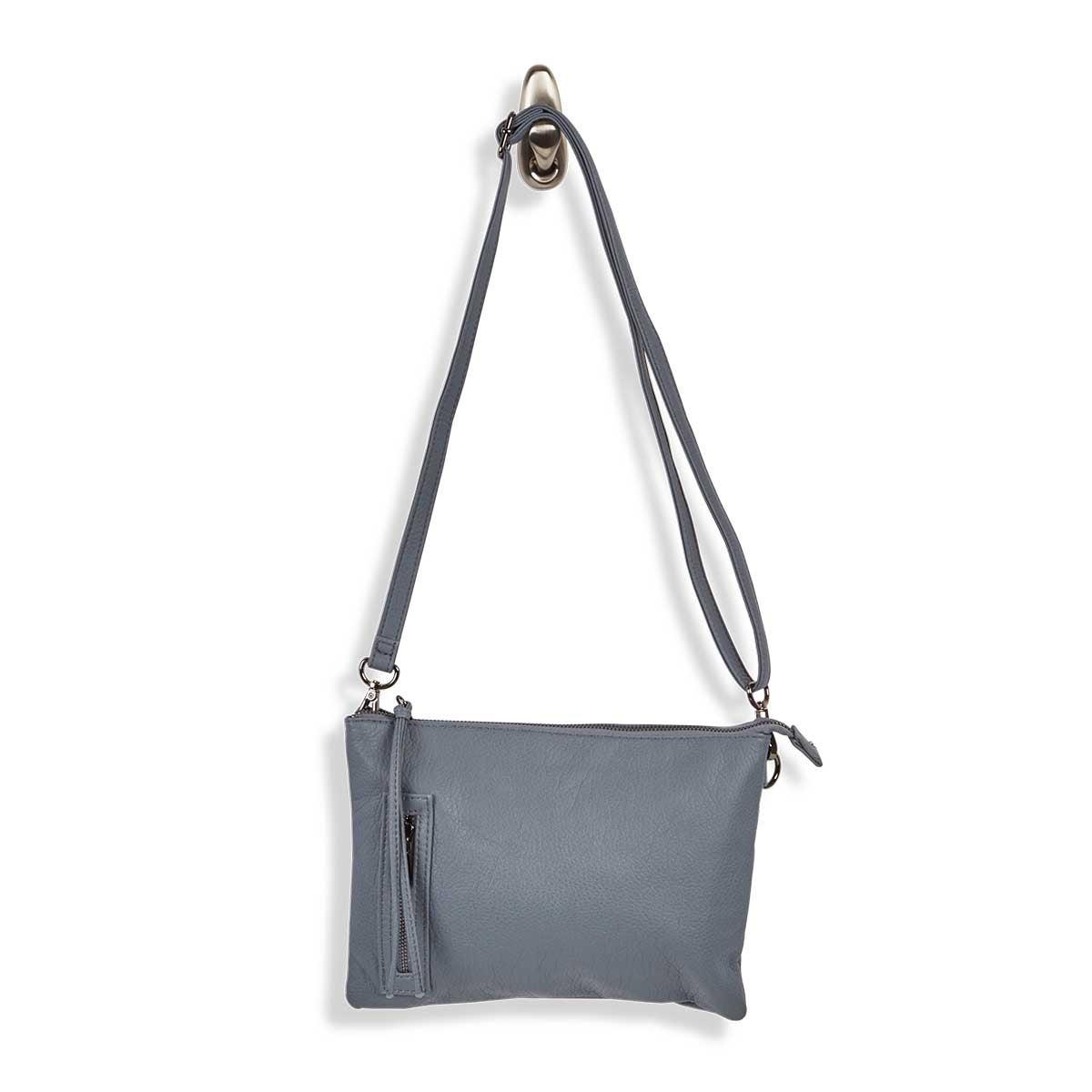 Lds Loft Flat shark wristlet/crssbdy bag