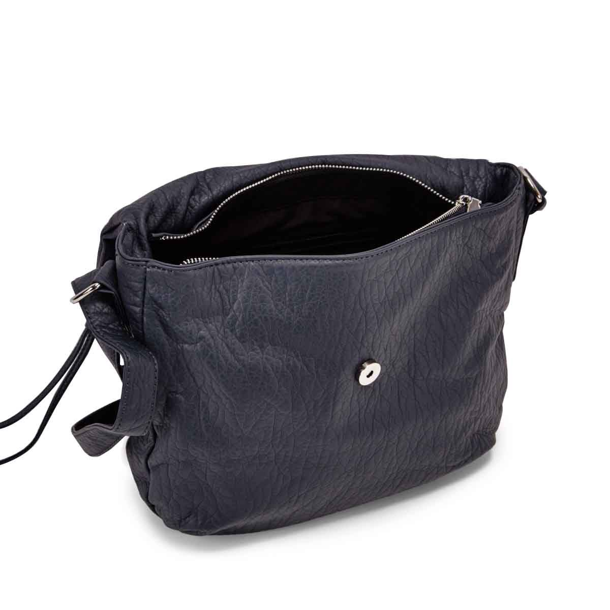 Lds blueberry crossbody messenger bag